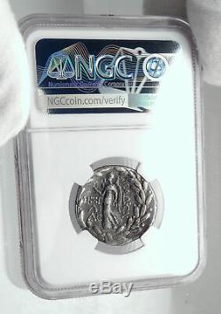 Arados Phenicia Authentique Ancien 92bc Argent Grec Tetradrachm Monnaie Ngc I80951