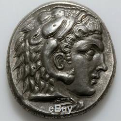 Argent Grec Ancien Coin Tetradrachm Alexandre Le Grand 336-322 Bc