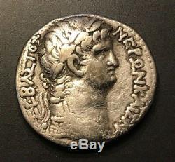 Argent Rome Antique Tetradrachm Nero Antioch Mint 54 68 A. D. Année 10