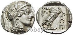 Athena Attica Tetradrachm (pièce De Hibou Antique)