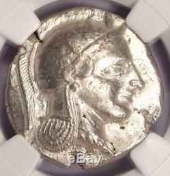 Athènes Antique Grèce Athena Owl Tetradrachm Coin (early 455-440 Bc) Ngc Vf
