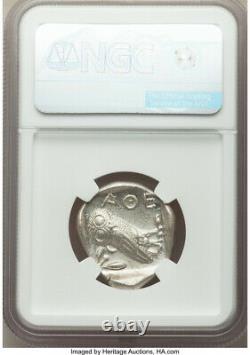 Athènes Antique Grèce Athena Owl Tetradrachm Silver Coin 440-404 Bc Ngc Ms