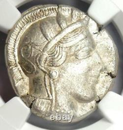 Athènes Antique Grèce Athena Owl Tetradrahm Pièce (440-404 Av. J.-c.) Ngc Xf (ef)