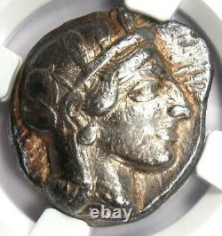 Athènes Antique Grèce Athena Owl Tetradrahm Pièce D'argent (440-404 Av. J.-c.) Ngc Vf