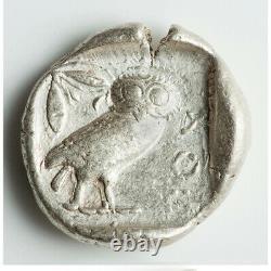 Athènes Antique Grèce Athena Owl Tetradrahm Pièce D'argent 440-404 Bc Choix Xf