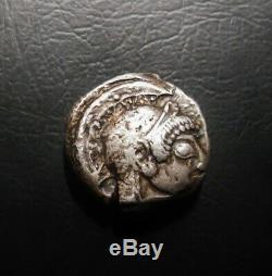 Athènes Ar Archaic Tétradrachme 500-490 Bc Athena / Owl Full Crest