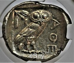 Athènes Ar Tétradrachme D'argent Ngc Choix Ms 5/5 4/5 Beaux Style