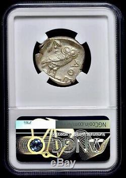Athènes Athena Owl Attica 440-404 Bc Ar Tétradrachme D'argent Ngc Mint État Ms 4 + 5
