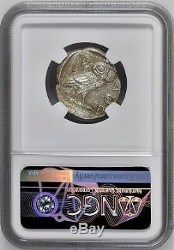 Athènes Athena Owl Attica 440-404 Bc Ar Tétradrachme D'argent Ngc Mint État Ms 5 + 4