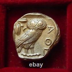 Athènes, Athena Owl Silver Tetradrachm 454-404 Av. J.-c. Athena & Owl Crête Pleine