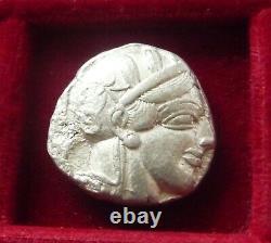 Athènes, Athéna Owl Silver Tetradrachm 454-404 Bc. Athéna & Hibou