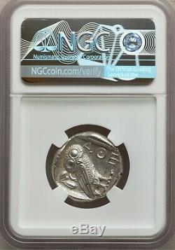 Athènes Athena Owl Tetradrachm Ca. 465-454 Av. Jc. Attique Grecque Ngc Ms 5/5 4/5