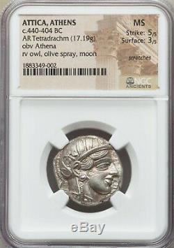Athènes Athena Owl Tetradrachm Ca. 465-454 Avant Jc Superbe Pièce De Monnaie De L'antiquité Grecque