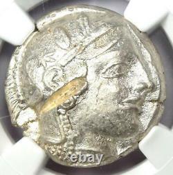 Athènes Athena Owl Tetradrachm Coin (455-440 Av. J.-c.) Ngc Au, Test Cut Early Issue