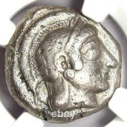Athènes Athena Owl Tetradrachm Coin (510-480 Bc) Ngc Choix Vf Avec Full Crest