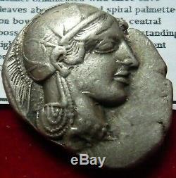 Athènes, Athena Owl Tétradrachme D'argent 454-404 Avant Notre Ère. Athena & Owl Incuse Cop 31 Gns