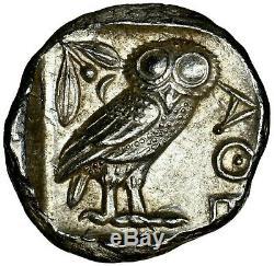 Athènes Attica 440-404 Bc Ngc Ch Au 4/5 Ar Tetradrachm Antique Silver Coin