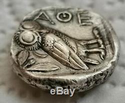Athènes Attique Grèce Antique C. 454-404 Bc Argent Owl Tetradrachm Authentique Coin
