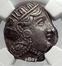 Athènes Attique Grèce Athéna Hibou Tetradrachme Pièce De Monnaie Grecque Argent Antique Ngc I59986
