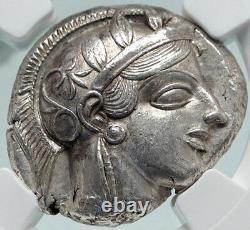 Athenes Grèce 440bc Ancient Silver Greek Tetradrachm Coin Athena Owl Ngc I86559