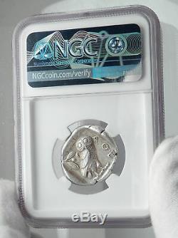 Athenes Grèce Antique Argent 455bc Grecque Tétradrachme Coin Athéna Chouette Ngc I80942