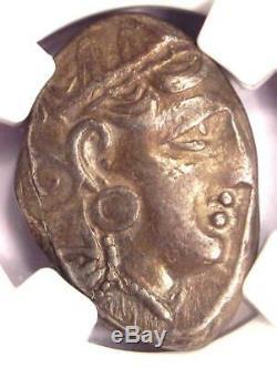 Athènes Grèce Antique Athéna Chouette Tetradrachm Coin (393-294 Bc) Ngc Choix Vf