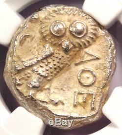 Athènes Grèce Antique Athéna Chouette Tetradrachm Coin (393-294 Bc) Ngc Ms (unc)
