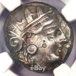 Athènes Grèce Antique Athéna Chouette Tetradrachm Coin (393-294 Bc) Xf Choix Ngc