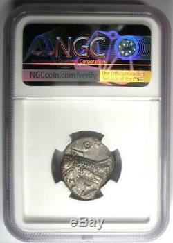 Athènes Grèce Antique Athéna Chouette Tetradrachm Coin (393-294 Bc) Xf Ngc (ef)