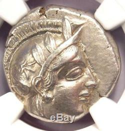Athènes Grèce Antique Athéna Chouette Tetradrachm Coin (440-404 Bc) Ngc Au