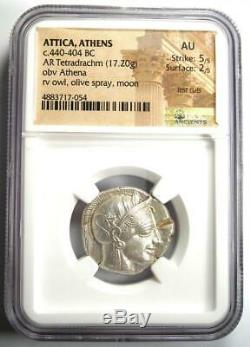 Athènes Grèce Antique Athéna Chouette Tetradrachm Coin (440-404 Bc) Ngc Au, Coupes De Test
