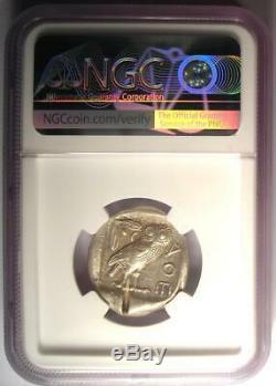 Athènes Grèce Antique Athéna Chouette Tetradrachm Coin (440-404 Bc) Ngc Au, Cut Test