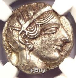 Athènes Grèce Antique Athéna Chouette Tetradrachm Coin (440-404 Bc) Ngc Choice Au