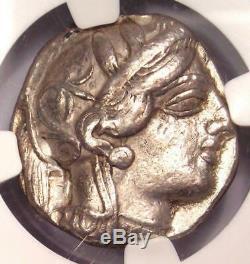 Athènes Grèce Antique Athéna Chouette Tetradrachm Coin (440-404 Bc) Ngc Choix Vf