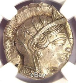 Athènes Grèce Antique Athéna Chouette Tetradrachm Coin (440-404 Bc) Ngc Ms (unc)