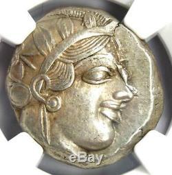 Athènes Grèce Antique Athéna Chouette Tetradrachm Coin (440-404 Bc) Xf Choix Ngc