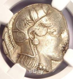 Athènes Grèce Antique Athéna Chouette Tetradrachm Coin (440-404 Bc) Xf Ngc