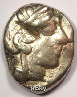 Athènes Grèce Antique Athéna Chouette Tetradrachm Coin (454-404 Bc) Bel État