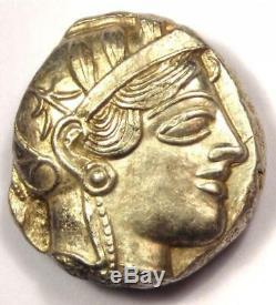 Athènes Grèce Antique Athéna Chouette Tetradrachm Coin (454-404 Bc) Condition Au