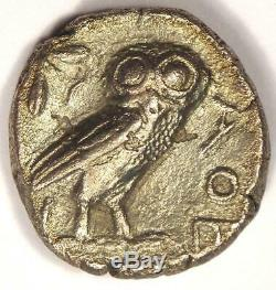 Athènes Grèce Antique Athéna Chouette Tetradrachm Coin (454-404 Bc) Condition Xf (ef)