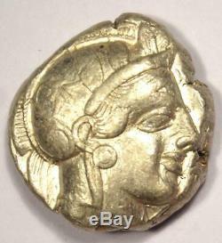 Athènes Grèce Antique Athéna Chouette Tetradrachm Coin (454-404 Bc) Nice Choix Vf