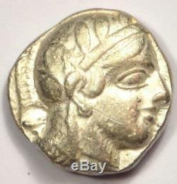 Athènes Grèce Antique Athéna Chouette Tetradrachm Coin (454-404 Bc) Nice Xf