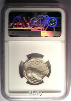 Athènes Grèce Antique Athéna Chouette Tetradrachm Coin (455-440 Bc) Ngc Choix Vf