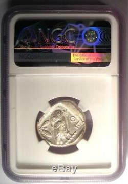 Athènes Grèce Antique Athéna Chouette Tetradrachm Coin (455-440 Bc) Xf Ngc