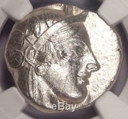 Athènes Grèce Antique Athéna Chouette Tetradrachm Pièce D'argent (440-404 Bc) Ngc Au