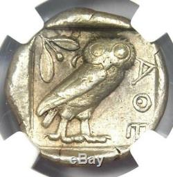 Athènes Grèce Antique Athéna Chouette Tetradrachm Pièce D'argent (440-404 Bc) Ngc Vf