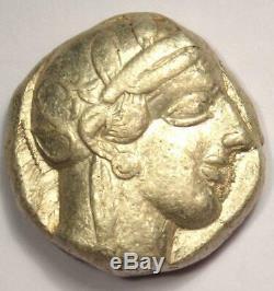 Athènes Grèce Antique Athéna Chouette Tetradrachm Pièce D'argent (454-404 Bc) - Choix Vf