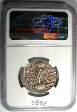 Athènes Grèce Athena Owl Tetradrachm Coin (110 Bc, Nouveau Style) Certifié Ngc Xf