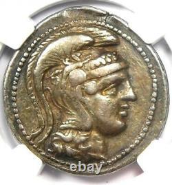 Athènes Grèce Athena Owl Tetradrachm Coin (124 Av. J.-c., New Style) Ngc Vf, 5 Strike
