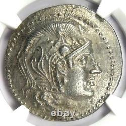 Athènes Grèce Athena Owl Tetradrachm Coin (155 Av. J.-c., Nouveau Style) Ngc Choice Au